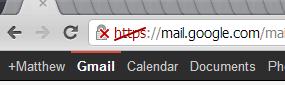 Broken HTTPS in Gmail