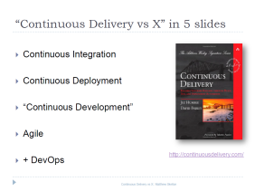 Slide - Continuous Delivery vs X