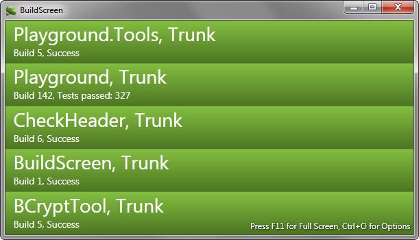 BuildScreen screenshot