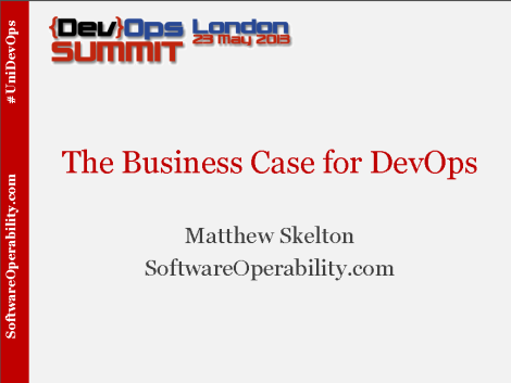 The Business Case for DevOps - title slide