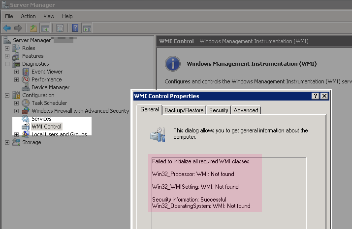 Chef on Windows – detecting and fixing WMI problems which